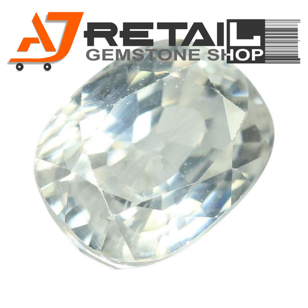 Aj Retail 3.75 Ct Natural earth mined best quality white colour zircon buy online in Chennai, Tamil Nadu - 1 Mukhi Rudraksha
