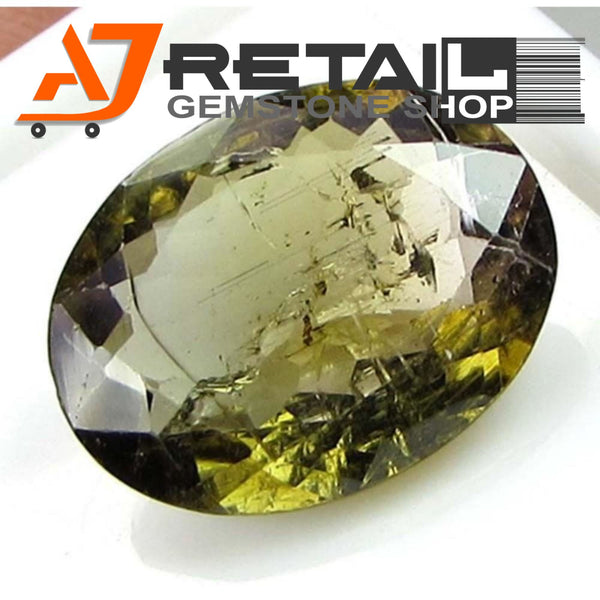 Aj Retail 4.05 Ct Green Tourmaline Loose Gemstones/ Hight quality tourmaline stone buy online in Chennai, Tamil Nadu - 1 Mukhi Rudraksha