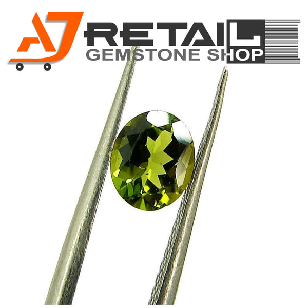 Aj Retail 4.08 Ct Green Tourmaline Loose Gemstones/ Hight quality tourmaline stone buy online in Chennai, Tamil Nadu - 1 Mukhi Rudraksha