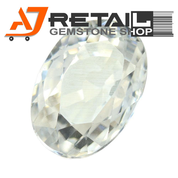 Aj Retail 4.08 Ct Natural earth mined best quality white colour zircon buy online in Chennai, Tamil Nadu - 1 Mukhi Rudraksha