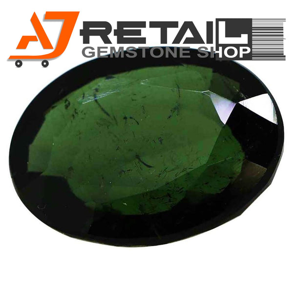 Aj Retail 4.10 Ct Green Tourmaline Loose Gemstones/ Hight quality tourmaline stone buy online in Chennai, Tamil Nadu - 1 Mukhi Rudraksha