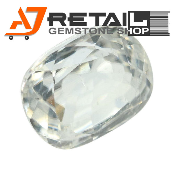 Aj Retail 4.27 Ct Natural earth mined best quality white colour zircon buy online in Kolkata, West Bengal - 1 Mukhi Rudraksha