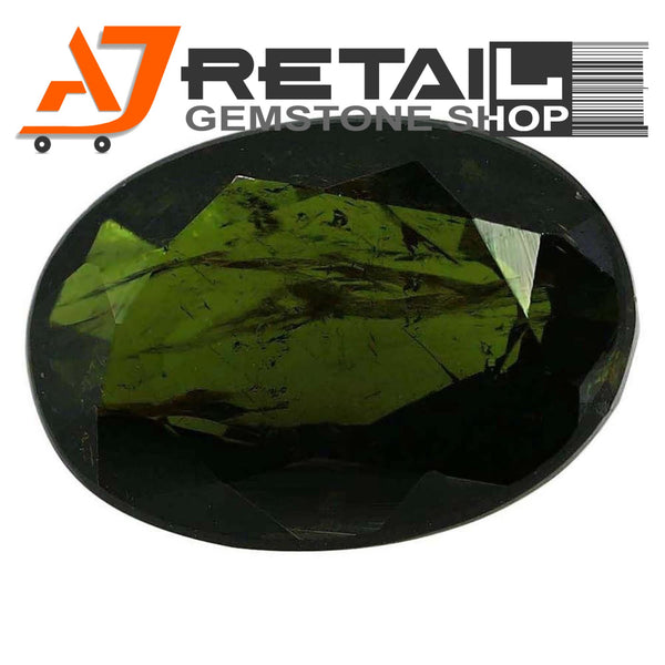 Aj Retail 4.50 Ct Green Tourmaline Loose Gemstones/ Hight quality tourmaline stone buy online in Chennai, Tamil Nadu - 1 Mukhi Rudraksha