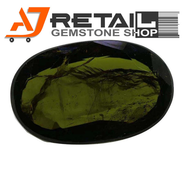 Aj Retail 4.60 Ct Green Tourmaline Loose Gemstones/ Hight quality tourmaline stone buy online in Kolkata, West Bengal - 1 Mukhi Rudraksha
