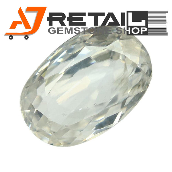 Aj Retail 4.75 Ct Natural earth mined best quality white colour zircon buy online in Kolkata, West Bengal - 1 Mukhi Rudraksha
