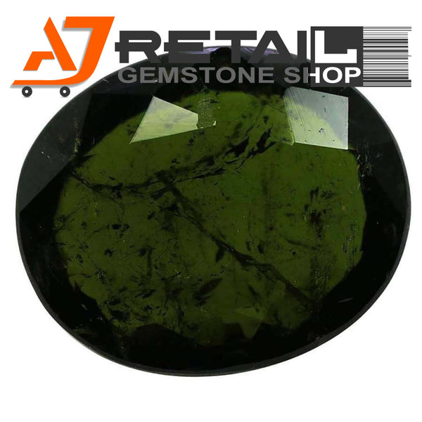Aj Retail 4.80 Ct Green Tourmaline Loose Gemstones/ Hight quality tourmaline stone buy online in Kolkata, West Bengal - 1 Mukhi Rudraksha