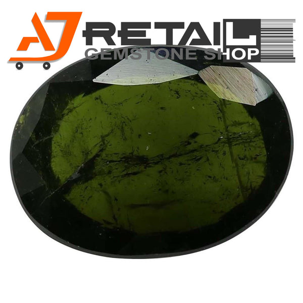 Aj Retail 4.90 Ct Green Tourmaline Loose Gemstones/ Hight quality tourmaline stone buy online in Chennai, Tamil Nadu - 1 Mukhi Rudraksha