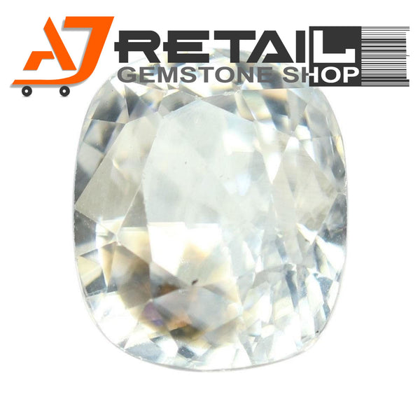 Aj Retail 4.90 Ct Natural earth mined best quality white colour zircon buy online in Kolkata, West Bengal - 1 Mukhi Rudraksha