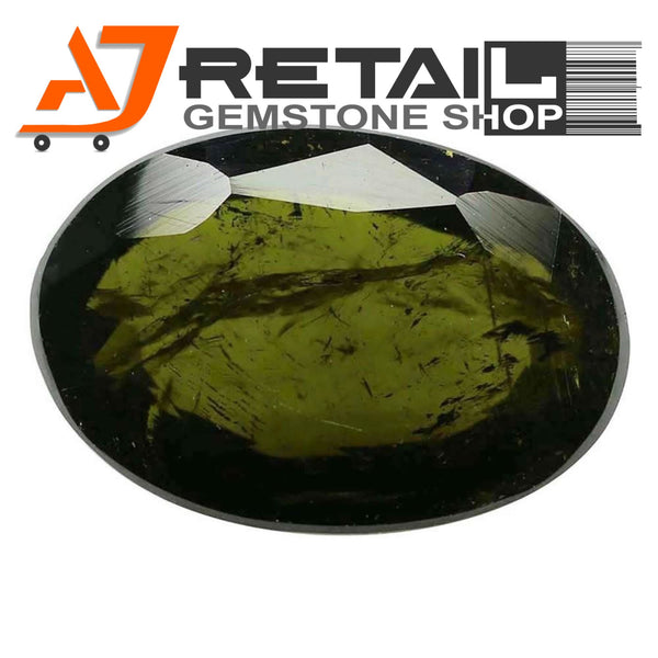 Aj Retail 5.05 Ct Green Tourmaline Loose Gemstones/ Hight quality tourmaline stone buy online in Kolkata, West Bengal - 1 Mukhi Rudraksha