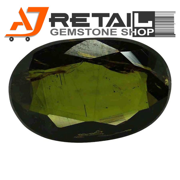 Aj Retail 5.10 Ct Green Tourmaline Loose Gemstones/ Hight quality tourmaline stone buy online in Chennai, Tamil Nadu - 1 Mukhi Rudraksha
