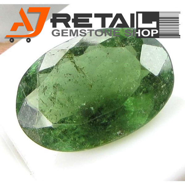 Aj Retail 5.15 Ct Green Tourmaline Loose Gemstones/ Hight quality tourmaline stone buy online in Kolkata, West Bengal - 1 Mukhi Rudraksha
