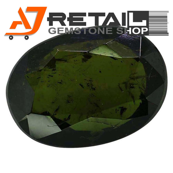 Aj Retail 5.60 Ct Green Tourmaline Loose Gemstones/ Hight quality tourmaline stone buy online in Chennai, Tamil Nadu - 1 Mukhi Rudraksha