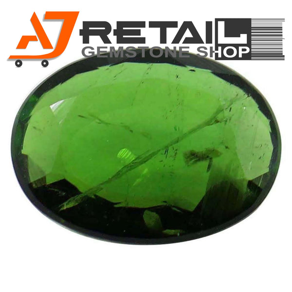 Aj Retail 5.70 Ct Green Tourmaline Loose Gemstones/ Hight quality tourmaline stone buy online in Kolkata, West Bengal - 1 Mukhi Rudraksha