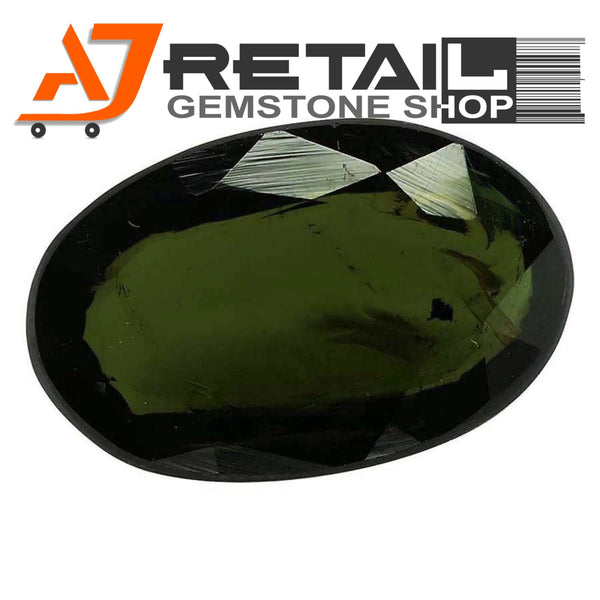 Aj Retail 5.80 Ct Green Tourmaline Loose Gemstones/ Hight quality tourmaline stone buy online in Chennai, Tamil Nadu - 1 Mukhi Rudraksha