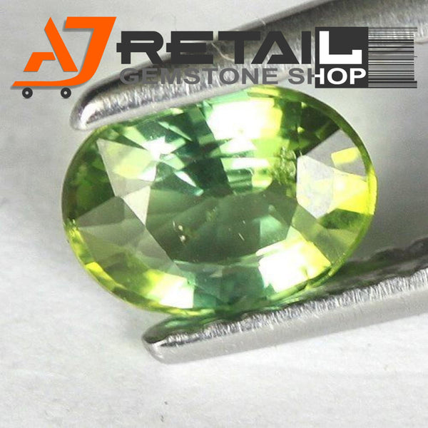 Aj Retail 6.08 Ct Green Tourmaline Loose Gemstones/ Hight quality tourmaline stone buy online in Kolkata, West Bengal - 1 Mukhi Rudraksha