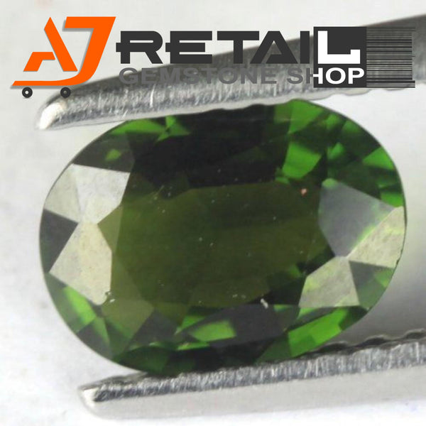 Aj Retail 6.10 Ct Green Tourmaline Loose Gemstones/ Hight quality tourmaline stone buy online in Kolkata, West Bengal - 1 Mukhi Rudraksha