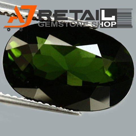 Aj Retail 6.15 Ct Green Tourmaline Loose Gemstones/ Hight quality tourmaline stone buy online in Kolkata, West Bengal - 1 Mukhi Rudraksha