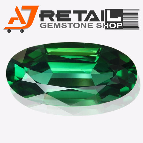 Aj Retail 6.25 Ct Green Tourmaline Loose Gemstones/ Hight quality tourmaline stone buy online in Kolkata, West Bengal - 1 Mukhi Rudraksha
