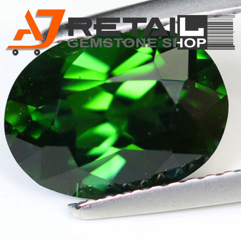 Aj Retail 6.50 Ct Green Tourmaline Loose Gemstones/ Hight quality tourmaline stone buy online in Kolkata, West Bengal - 1 Mukhi Rudraksha