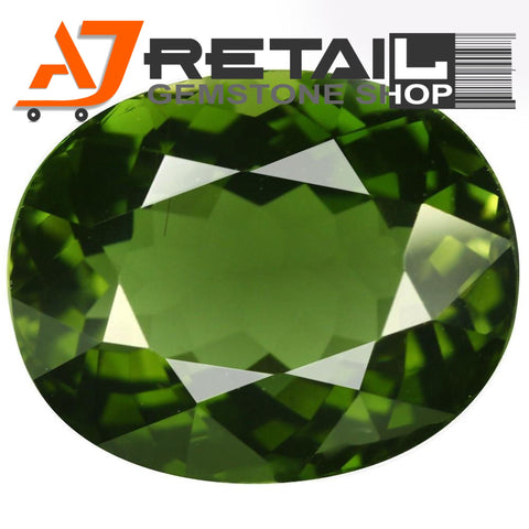 Aj Retail 6.60 Ct Green Tourmaline Loose Gemstones/ Hight quality tourmaline stone buy online in Kolkata, West Bengal - 1 Mukhi Rudraksha