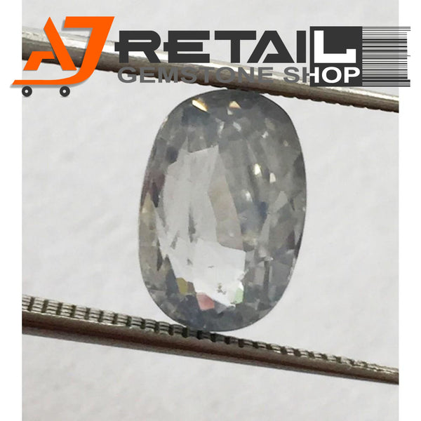 Aj Retail 6.60 Ct Natural earth mined best quality white colour zircon buy online in Kolkata, West Bengal - 1 Mukhi Rudraksha