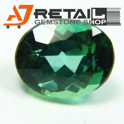 Aj Retail 6.70 Ct Green Tourmaline Loose Gemstones/ Hight quality tourmaline stone buy online in Kolkata, West Bengal - 1 Mukhi Rudraksha