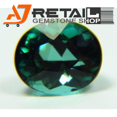 Aj Retail 6.80 Ct Green Tourmaline Loose Gemstones/ Hight quality tourmaline stone buy online in Kolkata, West Bengal - 1 Mukhi Rudraksha