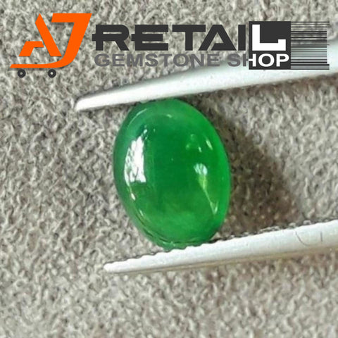 Aj Retail 7.15 Ct Natural  Jade Loose Gemstone Cabochon Stone buy online in Kolkata, West Bengal - 1 Mukhi Rudraksha
