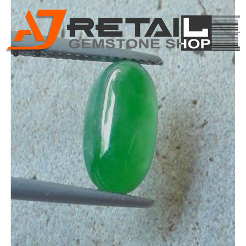 Aj Retail 7.60 Ct Natural  Jade Loose Gemstone Cabochon Stone buy online in Kolkata, West Bengal - 1 Mukhi Rudraksha