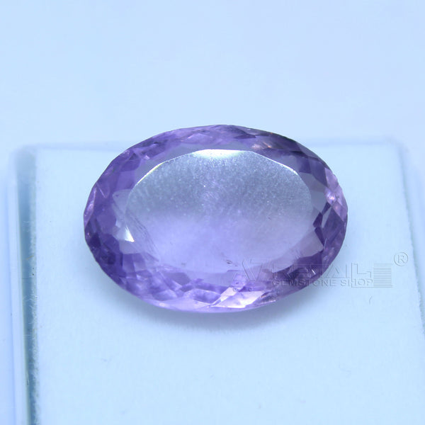 9.85 cts Amethyst AAA+ quality purple transparent Oval mixed cut for jewelry and astrology purpose - 1 Mukhi Rudraksha