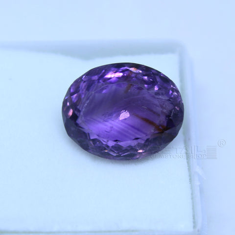 9.95 cts Amethyst AAA+ quality purple transparent Oval mixed cut for jewelry and astrology purpose(A) - 1 Mukhi Rudraksha