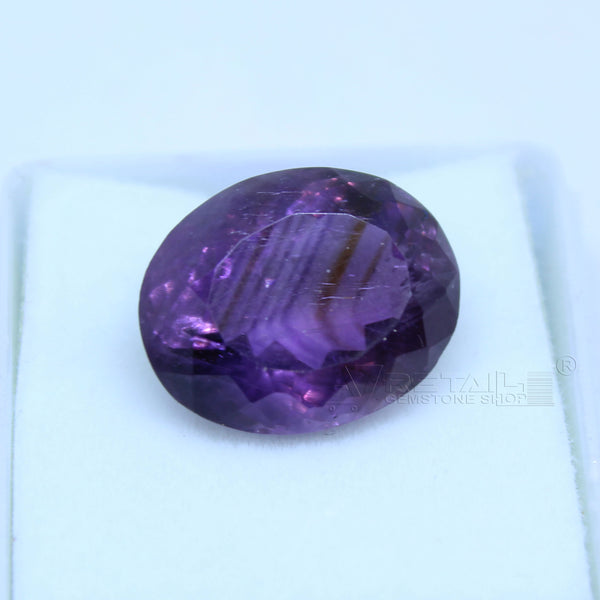 11.20 cts Amethyst AAA+ quality purple transparent Oval mixed cut for jewelry and astrology purpose - 1 Mukhi Rudraksha