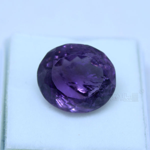 12.30 cts Amethyst AAA+ quality purple transparent Oval mixed cut for jewelry and astrology purpose - 1 Mukhi Rudraksha