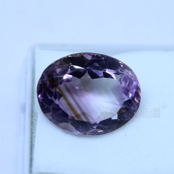 12.45 cts Amethyst AAA+ quality purple transparent Oval mixed cut for jewelry and astrology purpose(A) - 1 Mukhi Rudraksha