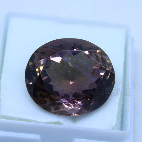 17.00 cts Amethyst AAA+ quality purple transparent Oval mixed cut for jewelry and astrology purpose - 1 Mukhi Rudraksha