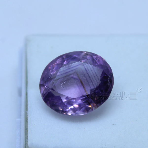 8.10 cts Amethyst AAA+ quality purple transparent Oval mixed cut for jewelry and astrology purpose - 1 Mukhi Rudraksha