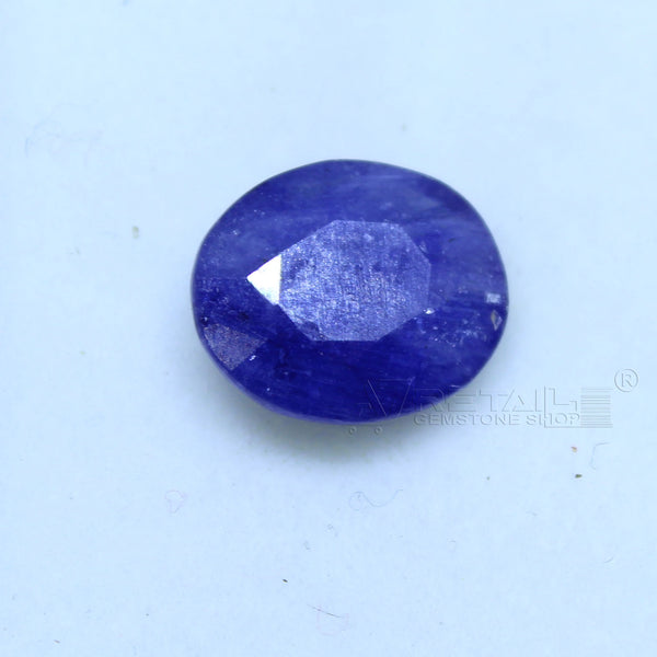 Natural Blue Sapphire 2.95 CARAT Bangkok Origin Unheated and Untreated | Certified Gemstone buy online @ajretail - 1 Mukhi Rudraksha