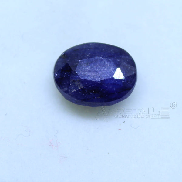 Natural Blue Sapphire 3.10 CARAT Bangkok Origin Unheated and Untreated | Certified Gemstone buy online @ajretail - 1 Mukhi Rudraksha