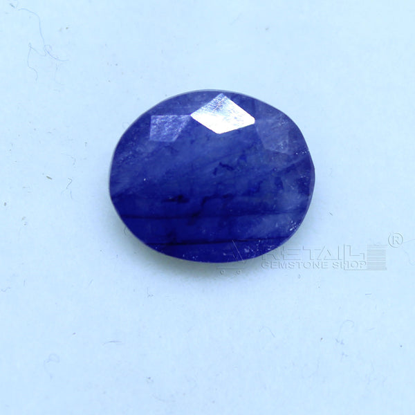 Natural Blue Sapphire 3.35 CARAT Bangkok Origin Unheated and Untreated | Certified Gemstone buy online @ajretail - 1 Mukhi Rudraksha