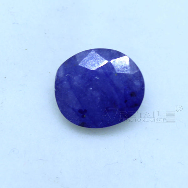Natural Blue Sapphire 3.65 CARAT Bangkok Origin Unheated and Untreated | Certified Gemstone buy online @ajretail - 1 Mukhi Rudraksha