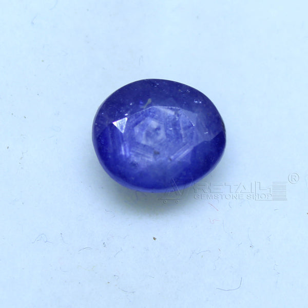 Natural Blue Sapphire 3.75 CARAT Bangkok Origin Unheated and Untreated | Certified Gemstone buy online @ajretail - 1 Mukhi Rudraksha