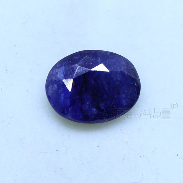 Natural Blue Sapphire 3.95 CARAT Bangkok Origin Unheated and Untreated | Certified Gemstone buy online @ajretail - 1 Mukhi Rudraksha