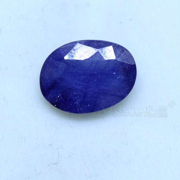 Natural Blue Sapphire 4.20 CARAT Bangkok Origin Unheated and Untreated | Certified Gemstone buy online @ajretail - 1 Mukhi Rudraksha
