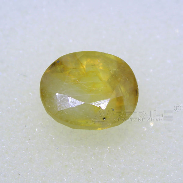 3.85 Carat good quality Bangkok natural yellow sapphire - 1 Mukhi Rudraksha