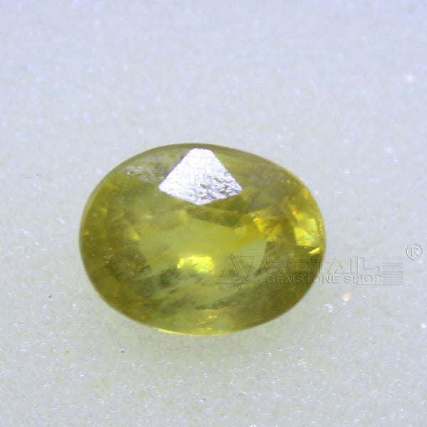 4.10 Carat good quality Bangkok natural yellow sapphire - 1 Mukhi Rudraksha