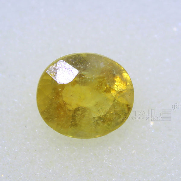 4.30 Carat good quality Bangkok natural yellow sapphire(B) - 1 Mukhi Rudraksha