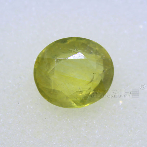 4.30 Carat good quality Bangkok natural yellow sapphire(D) - 1 Mukhi Rudraksha