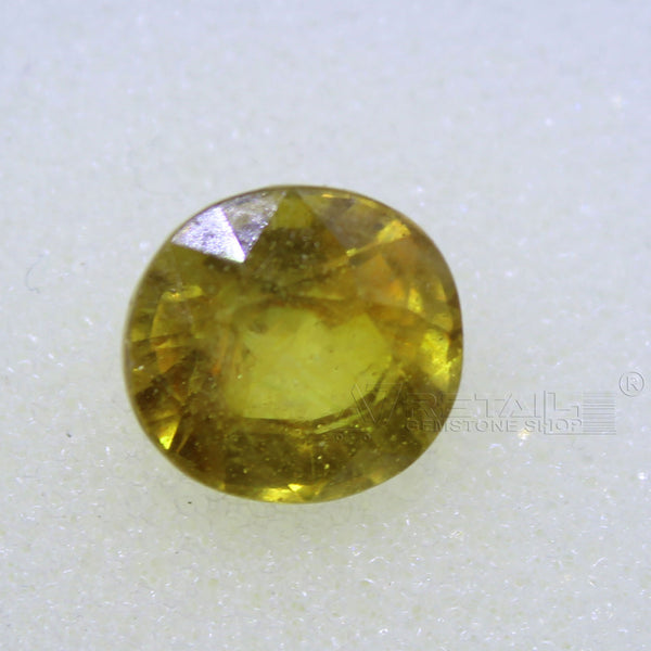 4.40 Carat good quality Bangkok natural yellow sapphire(A) - 1 Mukhi Rudraksha