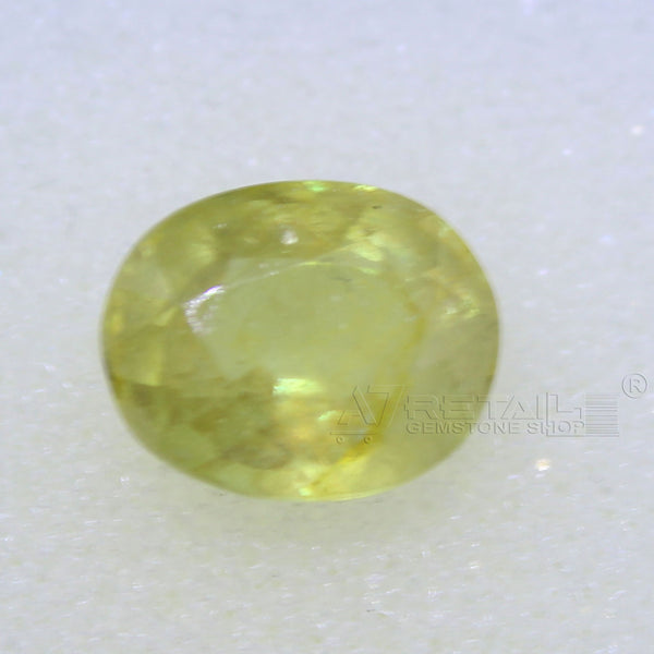 4.55 Carat good quality Bangkok natural yellow sapphire(B) - 1 Mukhi Rudraksha