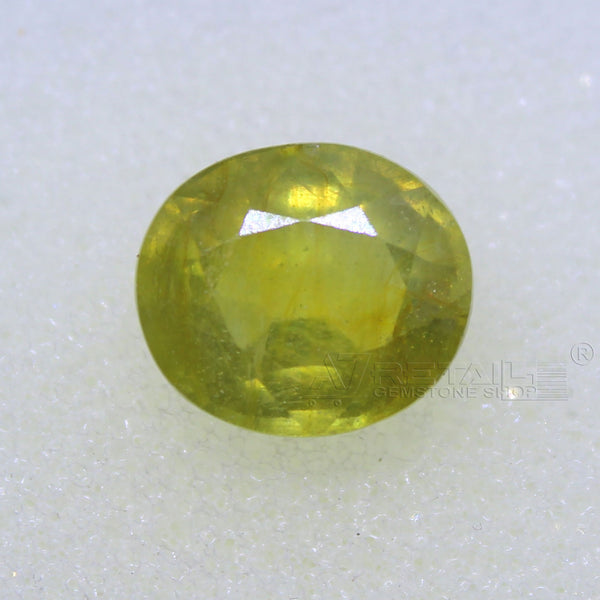 4.80 Carat good quality Bangkok natural yellow sapphire(A) - 1 Mukhi Rudraksha